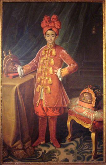 Mauperin, Portrait of Prince Nguyen Phuc Canh in France, 1787, Seminaire des Missions Etrangeres, Paris